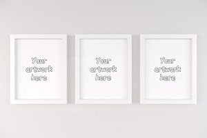Three basic frame mockup 11x14 inch