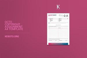 Octo Copyright Assignment A4 Templat