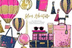 Glam Adventure Travel Clipart