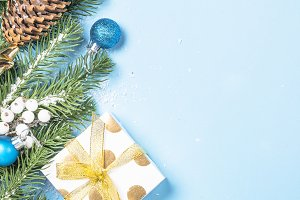 Christmas background - fir tree and