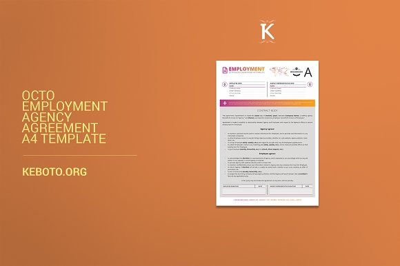 octo employment agency agreement a4 brochures