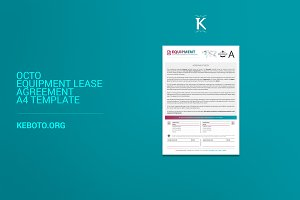 Octo Equipment Lease Agreement A4 Te