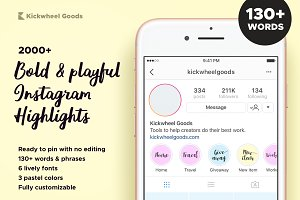 Instagram highlight cover Photos, Graphics, Fonts, Themes, Templates