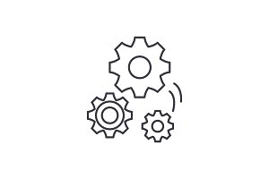 Mechanical engineering line icon