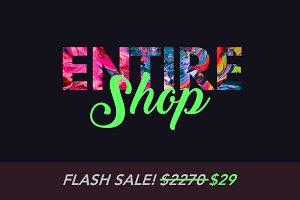 Entire Shop: Photoshop & Lightroom