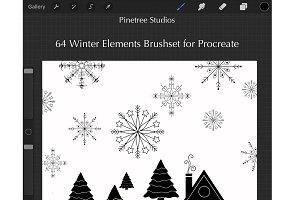 Procreate Winter Elements .brushset