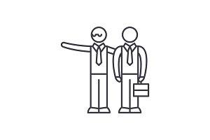 Mentoring line icon concept