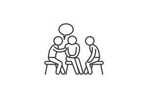Mentorship line icon concept