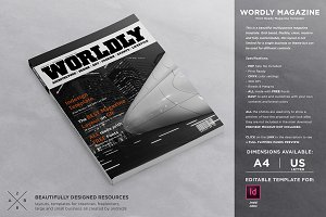 Wordly Magazine Template
