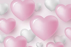 Heart background design
