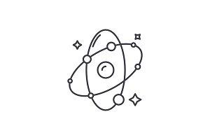 Molecule line icon concept. Molecule