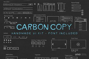 Carbon Copy - Handmade UI Kit