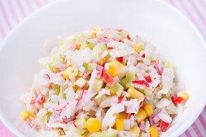 vegetable salad with corn
