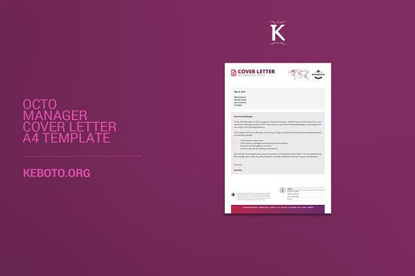 Octo Manager Cover Letter A4