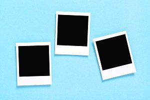 Retro style photo frames blue JPG