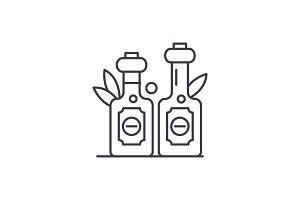 Olive oil line icon concept. Olive