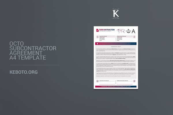 Octo Subcontractor Agreement A4
