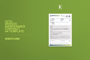 Octo Website Maintenance Contract A4