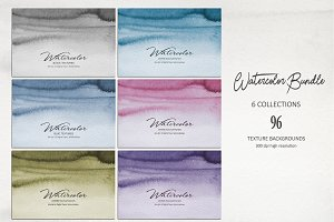 Watercolor Bundle 96 Textures