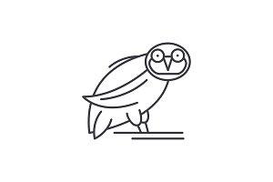 Owl line icon concept. Owl vector
