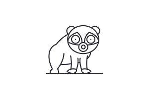 Panda line icon concept. Panda