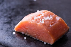 Raw red fish fillet