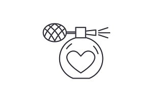 Perfumery line icon concept