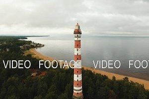 Old lighthouse on the coast.