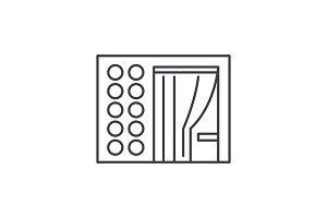 Photo booth line icon concept. Photo