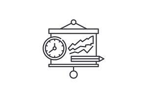 Presentation line icon concept