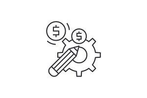 Profitable solution line icon