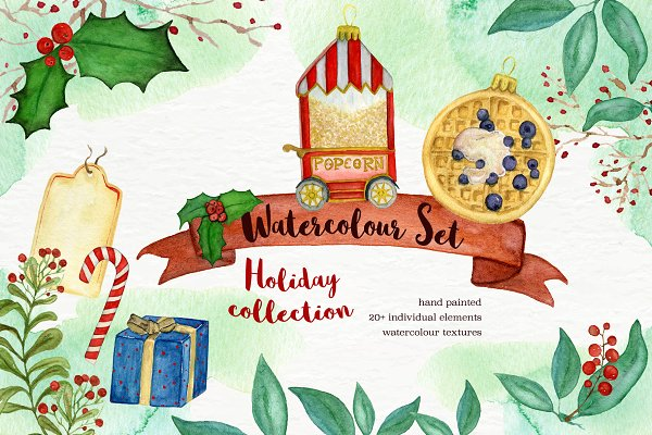 Christmas Edition Watercolor Set