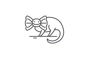 Reptile line icon concept. Reptile