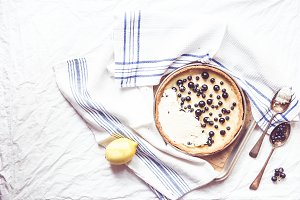Lemon Blueberry Coconut Tart