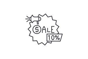Sales line icon concept. Sales