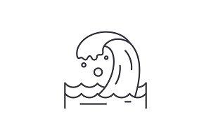 Sea wave line icon concept. Sea wave