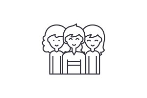 Sexual equality line icon concept