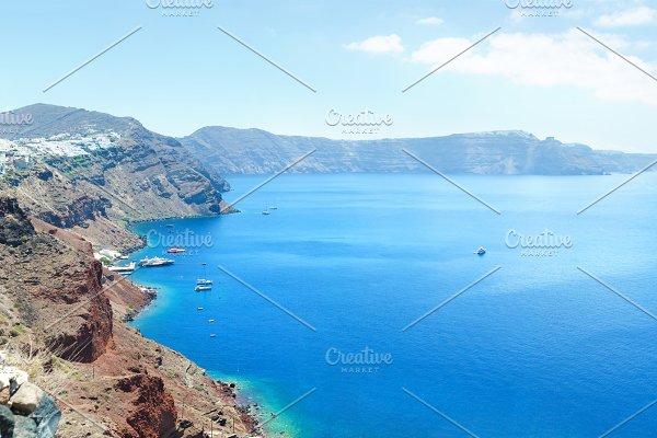 Volcano caldera Oia island Santorini ~ Nature Photos ~ Creative Market