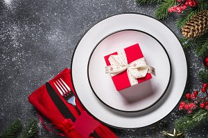 Christmas table setting - plate