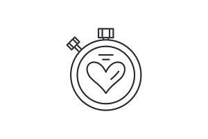 Sport timer line icon concept. Sport