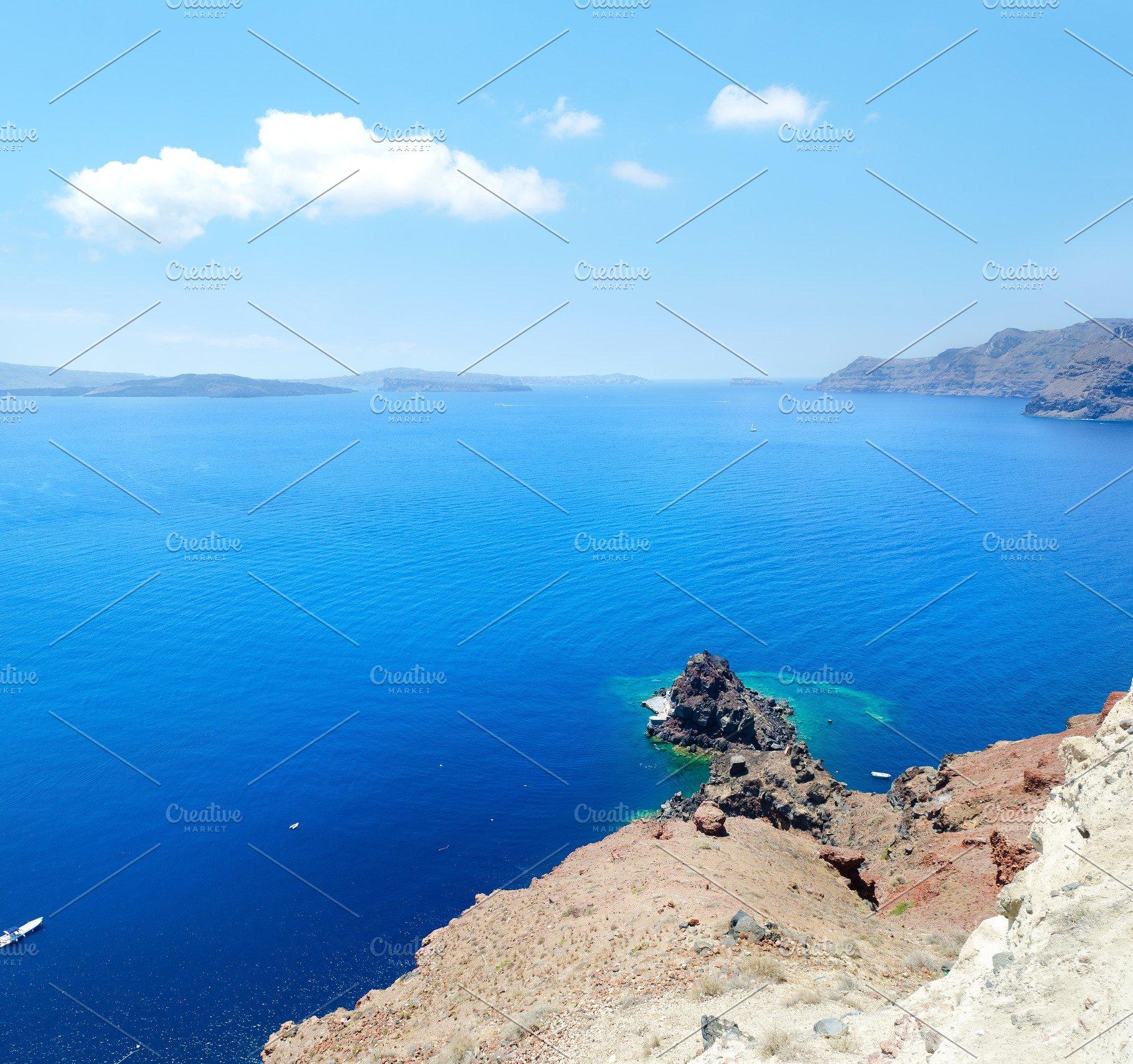 Volcano Caldera Oia Island Santorini