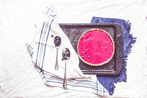 Blackcurrant Posset Tart