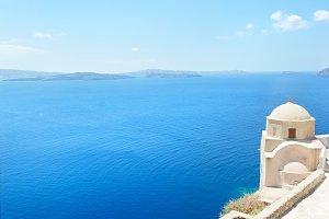 Church Oia island Santorini Greece