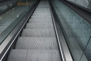 escalator stair steps
