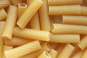 tortiglioni pasta food background
