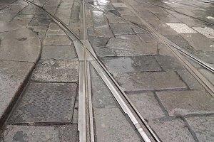 tramway tracks detail