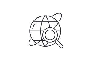 Study line icon concept. Study