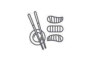 Sushi line icon concept. Sushi