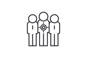 Target audience line icon concept