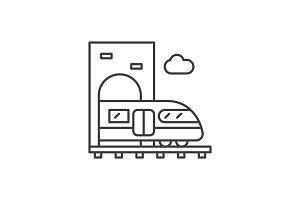 Train line icon concept. Train